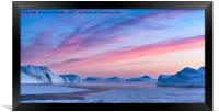 Sunset Over The Kangia Icefjord In Greenland, Framed Print