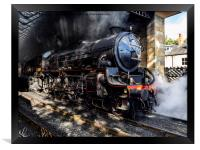 A Thompson Class Loco at Pickering Station, Framed Print