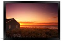 Sunset at Snettisham Beach, Norfolk, Framed Print