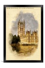 The Victoria Tower, London, Framed Print