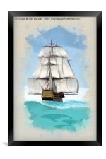 Under sail, Framed Print
