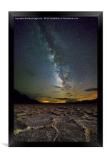 Milky Way over Death Valley, Framed Print
