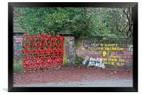 """""""The Beatles"""" heritage trail, Strawberry Field Gat, Framed Print"""