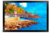 Kaleici harbour in Antalya Turkey, Framed Print