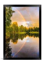 Rainbows: The gift from heaven to us all, Framed Print