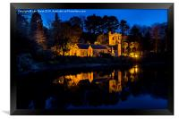 St. Just in Roseland at Night, Cornwall, Framed Print
