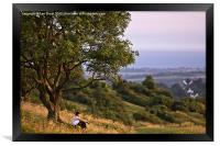 Contemplation on Cissbury Ring, Worthing, Framed Print