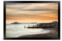 Worthing Pier at Sunset, Framed Print