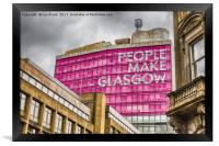 People Make Glasgow, Framed Print