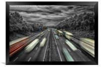 A Flash of Colour in the Rush Hour , Framed Print
