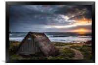 Freshwater West Seaweed Drying Hut, Framed Print