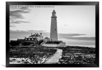 St. Mary's Lighthouse Standing Proudly........., Framed Print