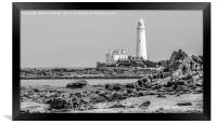 The Lighthouse in mono..............., Framed Print