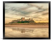 Another perspective of Bamburgh Castle, Framed Print
