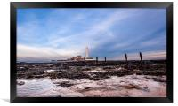 St. Mary's Lighthouse in Whitley Bay, Framed Print