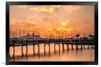 The beautiful sunset at Marina Rubicon, Framed Print