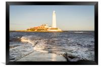 A Winters Day at the lighthouse, Framed Print