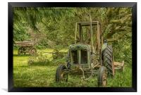 Abandoned Tractor, Framed Print