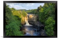 Summer Solstice Sun Illuminating High Force, Framed Print