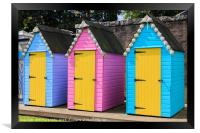 Colourful Bathing Huts, Framed Print