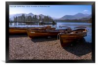 Rowing boats at Derwentwater, Framed Print