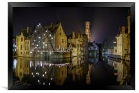 A time for Reflection in Brugge, Framed Print