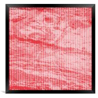 grunge red and white stripes texture, Framed Print