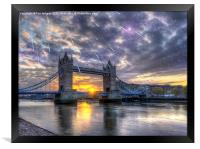 Tower bridge of london, Framed Print