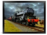 44871 Stainer class black 5 train, Framed Print