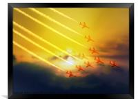 The wonderful Red Arrows, Framed Print