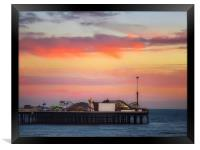 End of the pier Brighton , Framed Print