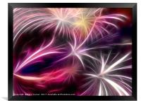 Fireworks ( digital) , Framed Print