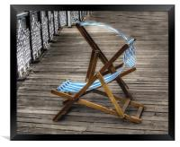 Just Two Deckchairs , Framed Print