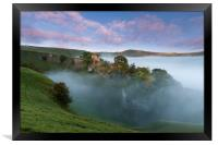 Peveril Castle Autumn Dawn.  , Framed Print