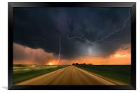Storm Chase sunset, Colorado., Framed Print