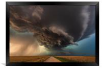 The Enid Supercell. Awarded in ILPOTY 2018, Framed Print
