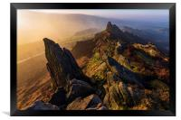 Ramshaw Rocks Sunrise , Framed Print