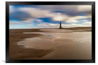 Point of Ayr Lighthouse, North wales, Framed Print