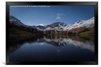 Buttermere by Moonlight, Framed Print