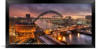 Newcastle Cityscape, Framed Print