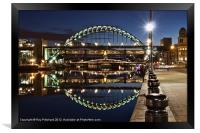 Tyne Bridge At Newcastle, Framed Print