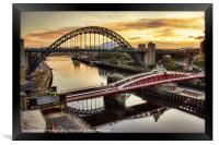 Early Morning in Newcastle, Framed Print
