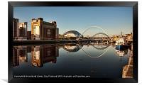 River Tyne Reflected, Framed Print