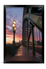 Tyne Bridge Sunrise, Framed Print