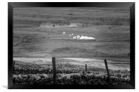 Steam trains in the yorkshire dales , Framed Print
