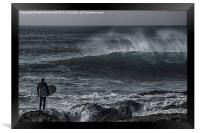 Weighing the Risk, Framed Print