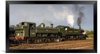 GWR pannier tank No 3650 4144 and large prairie lo, Framed Print