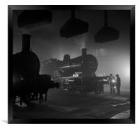 Barrow Hill Roundhouse , Framed Print