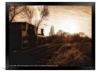 The last Train home , Framed Print