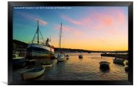 Boats by the sea, Framed Print